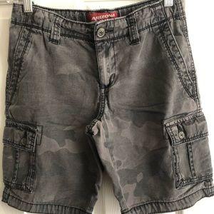 2 Pairs Arizona Camouflage/Gray Boys Cargo Shorts